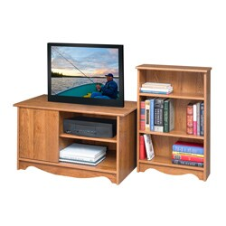 akadaHome Entertainment Stand and Bookcase Combo