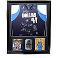 Dallas Mavericks Team Autographed Jersey in a Deluxe Frame Shadow Box