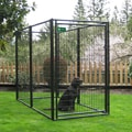 AKC Black 4x8-ft Welded Wire Kennel