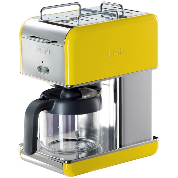 DeLonghi kMix 10-cup Yellow Drip Coffee Maker