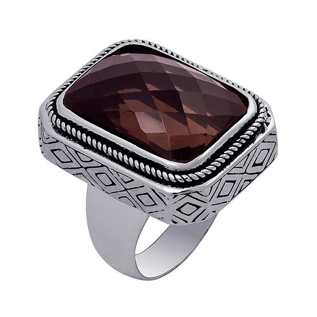 Sterling Silver Smokey Quartz Ring (Indonesia)