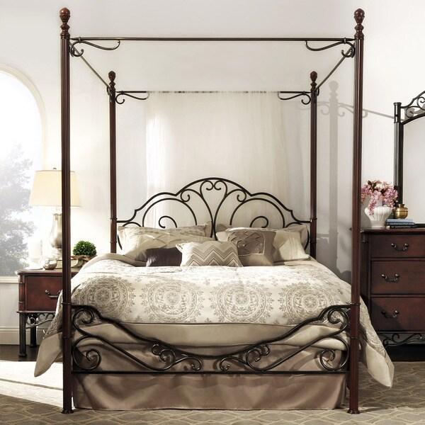 LeAnn Bronze Metal Full-size Canopy Bed