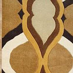 Hand-made Metro Brown Sugar New Zealand Blend Wool Rug (8' x 10')