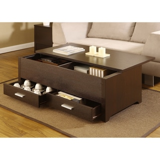 Furniture of America Knox Dark Espresso Storage Box Coffee Table