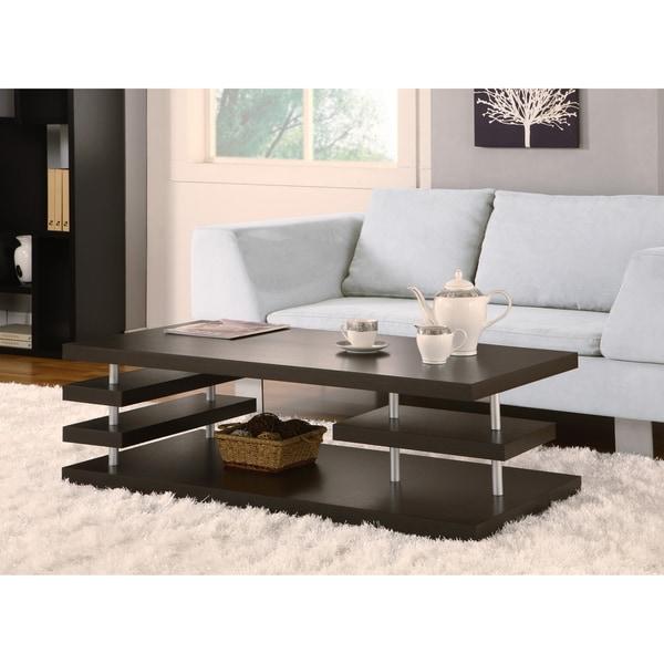 Furniture of America Aven Dark Cappuccino Coffee Table