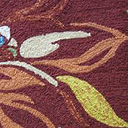 Hand-hooked Coventry Crimson Floral Indoor/ Outdoor Rug (3'6 x 5'6)
