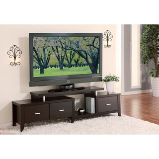 Furniture of America Cappuccino 60-inch Expandable TV Entertainment Console