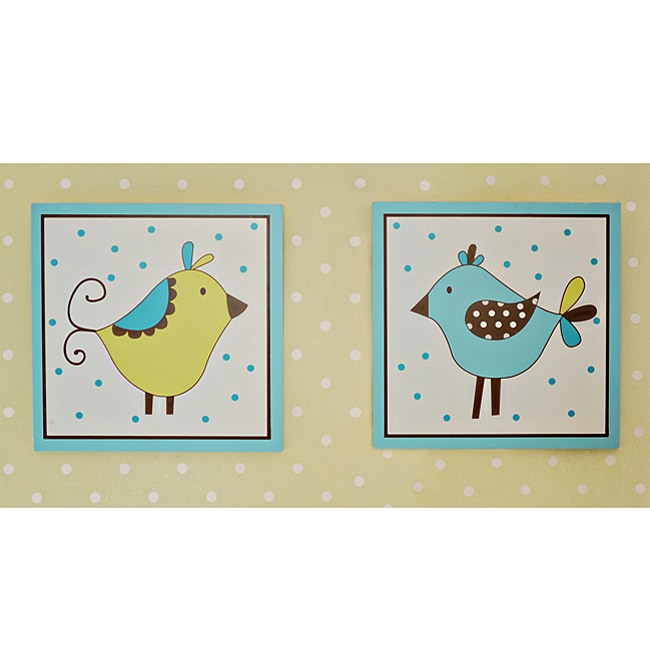 My Baby Sam Paisley Splash in Lime Wall Plaques