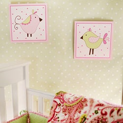 My Baby Sam Paisley Splash in Pink Wall Plaques