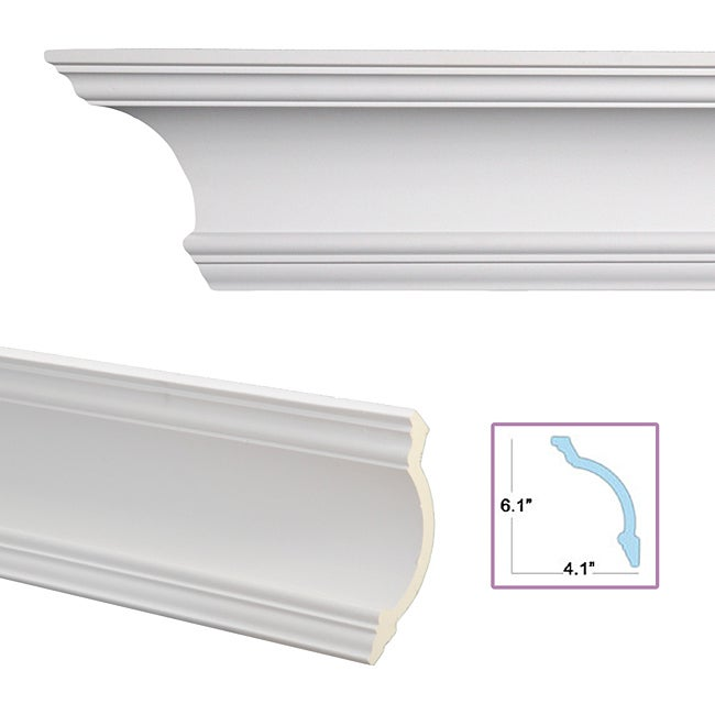 Cove 7 3 inch crown molding overstock shopping big for 9 inch crown molding