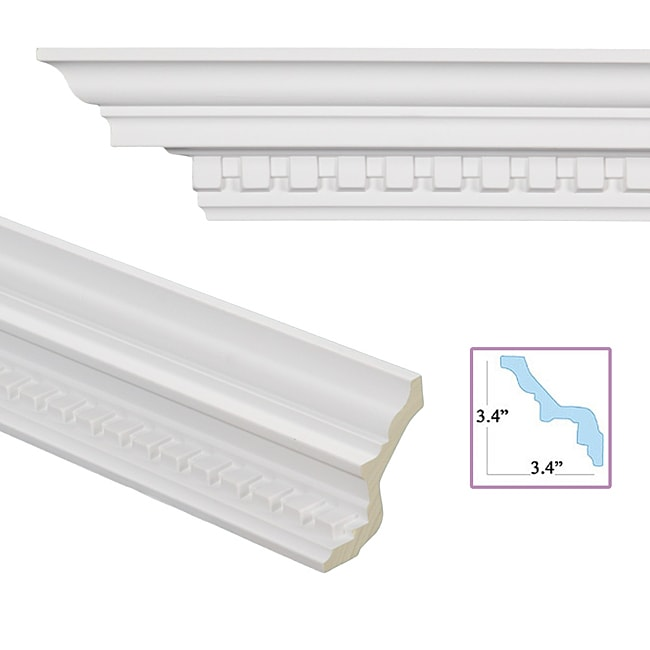 Dentil 4 8 inch crown molding 13878653 for 9 inch crown molding