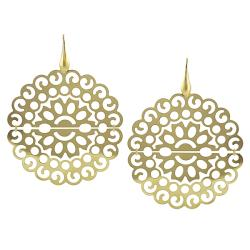 Journee Collection  Goldplated Sterling Silver Ornate Earrings