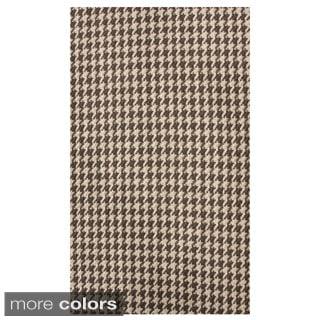 nuLOOM Handmade Texture Houndstooth Jute Rug (5' x 8')