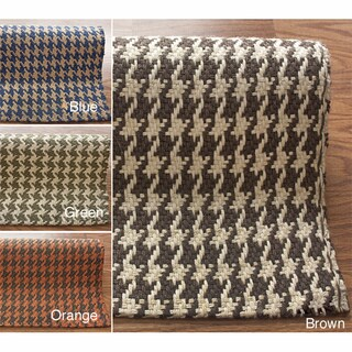 nuLOOM Handmade Texture Houndstooth Jute Rug (7'6 x 9'6)