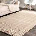 nuLOOM Handmade Texture Turku Jute Rug (7'6 x 9'6)