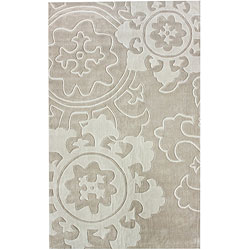 nuLOOM Handmade Pino Suzani Ivory Rug (5' x 8')