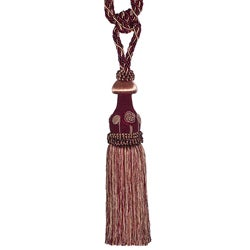 Multicolor Red Designer Tassel Tiebacks (Set of 2)