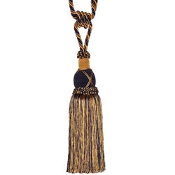 Navy/ Gold Designer Tassel Tiebacks (Set of 2)