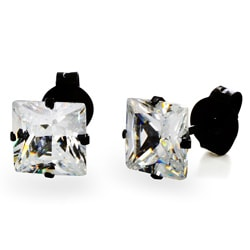 Stainless Steel 5 mm Cubic Zirconia Stud Earrings