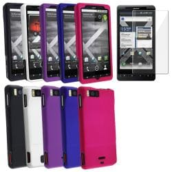 Rubber Coated Cases/ Screen Protector for Motorola Droid X2/ Daytona