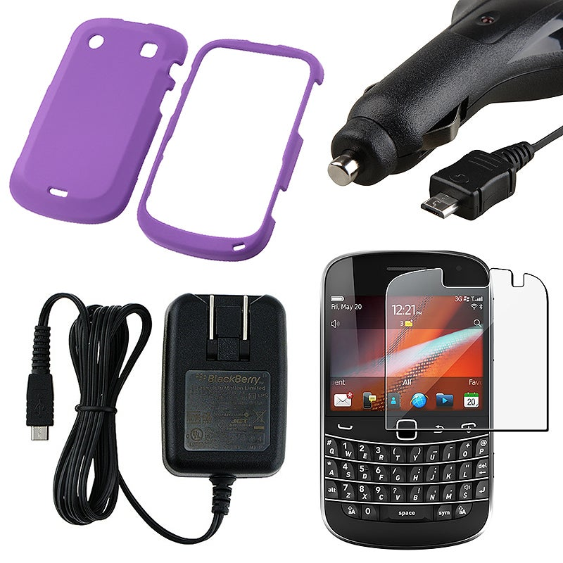 Case/ Screen Protector/ Car and Travel Charger for Blackberry 9900
