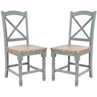 Provenical X-Back Pale Blue Side Chairs (Set of 2)