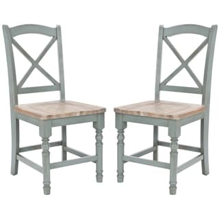 Safavieh Provenical X-Back Pale Blue Side Chairs (Set of 2)
