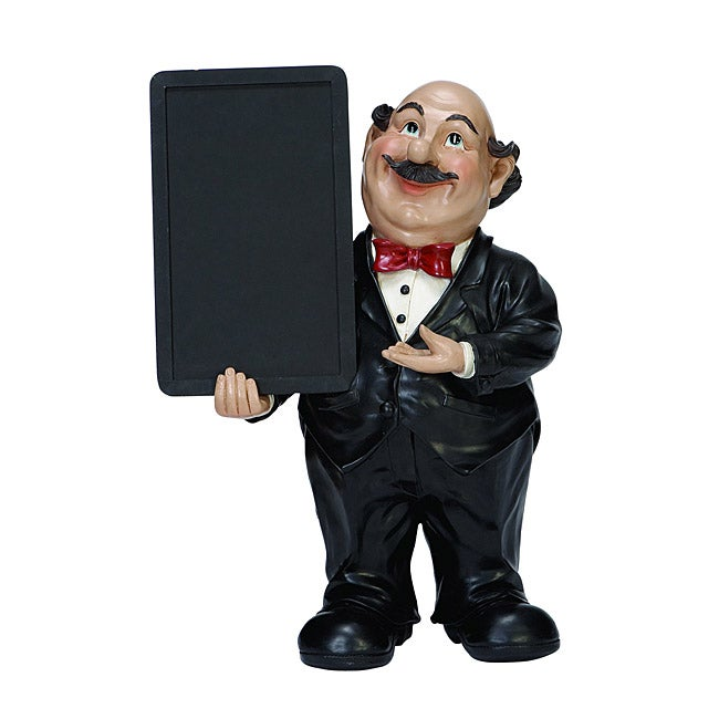 Casa Cortes 18-inch Waiter with Chalkboard Kitchen Decor