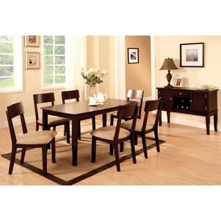 Furniture of America Portsmouth Dark Walnut 2-piece Dining Table Set