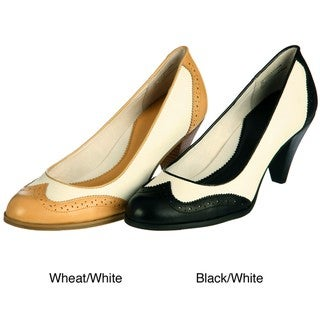 Womens Spectator Pump Shoes in Black and White - Halloween Costumes