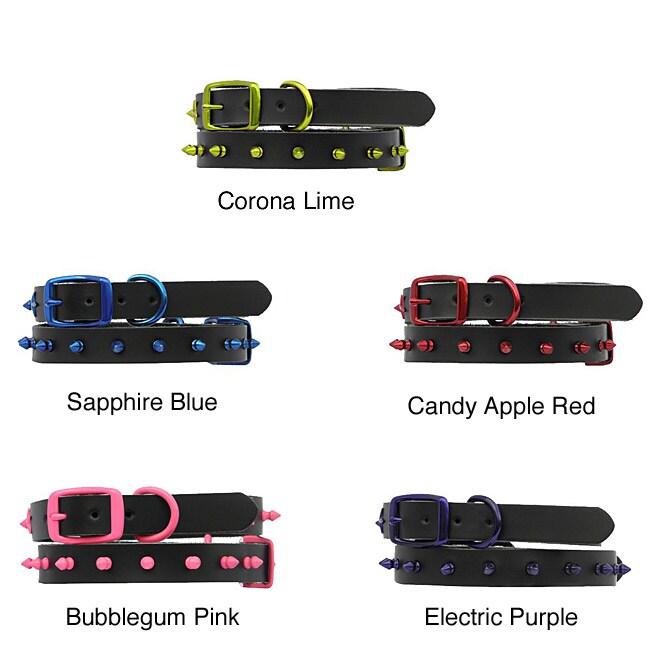 Platinum Pets Spiked Leather Medium/Large Dog Collar