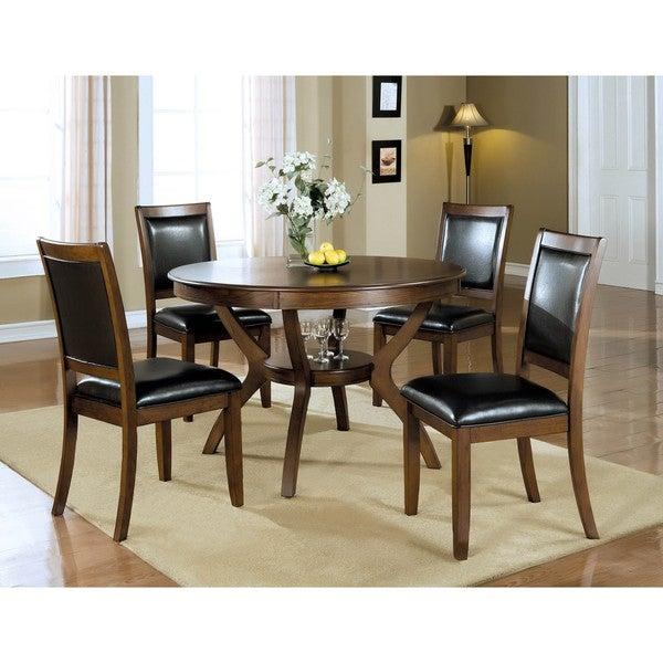 Dark Walnut Ash Veneer 48-inch Dining Table