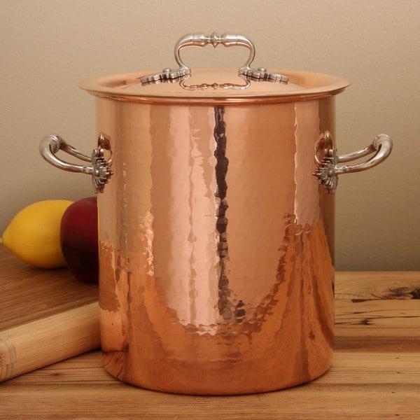 ruffoni hammered copper 5 5 quart stock pot 13881146 shopping great deals on. Black Bedroom Furniture Sets. Home Design Ideas