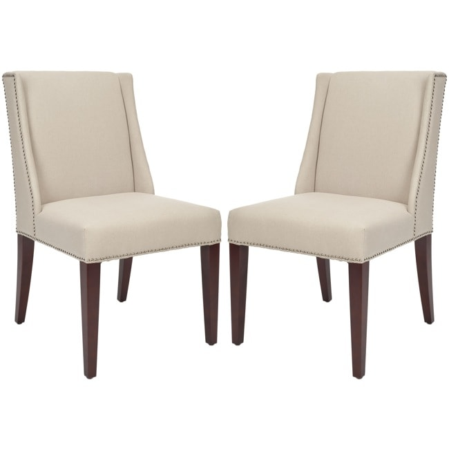 Safavieh Noho Beige Linen Side Chairs (Set of 2)