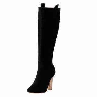 NYLA Women's 'Dronas' Black Tall Boots FINAL SALE
