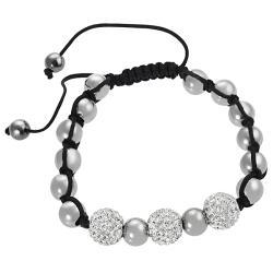Tressa Stainless Steel CZ Ball Pull Bracelet