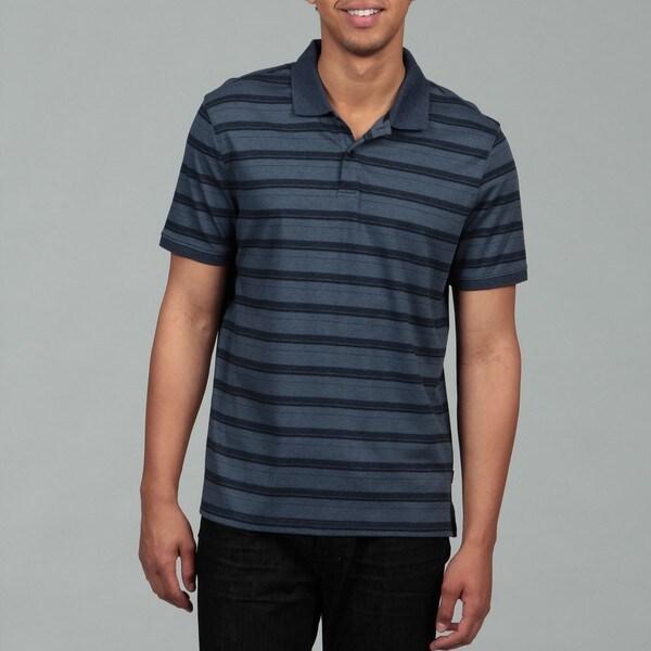 Calvin Klein Men's Officer Navy 2-button Liquid Polo Shirt