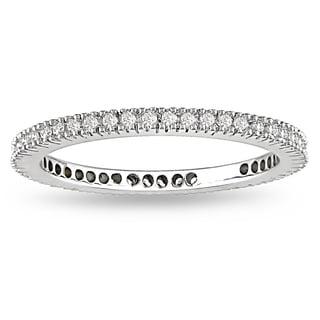 Miadora 18k White Gold 1/4ct TDW Diamond Eternity Wedding Band (G-H, SI1-SI2)