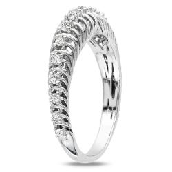 Miadora Sterling Silver 1/4ct TDW Round Diamond Ring (G-H, I3)