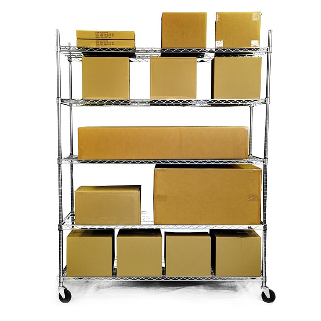 Trinity Home Entertainment Trinity 5-tier Heavy Duty Commercial Chrome Wire Shelving Rack at Sears.com