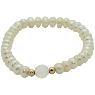 Junior Jewels Children's White Freshwater Pearl Bracelet (6 mm)