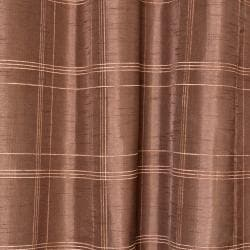 Faux Silk Chenille Check 84-inch Curtain Panel Pair
