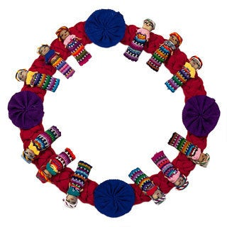 Guatemalan Red Worry Doll Wreath (Guatemala)