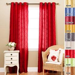 Faux Silk Pintuck 95-inch Curtain Panel Pair