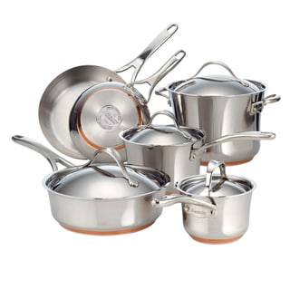 Anolon Nouvelle Copper Stainless Steel 10-piece Cookware Set PLUS $45 Overstock Gift Card