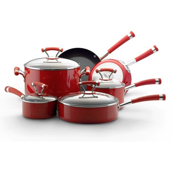 Circulon Contempo Red Nonstick 10-piece Cookware Set