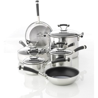 Circulon Contempo Stainless Steel Nonstick 10-piece Cookware Set