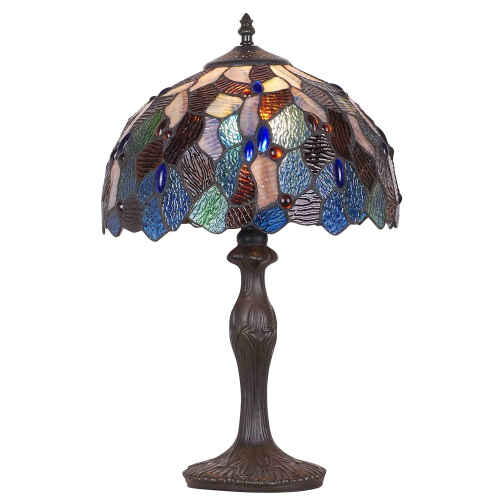 Bronze Finish Tiffany-style Table Lamp