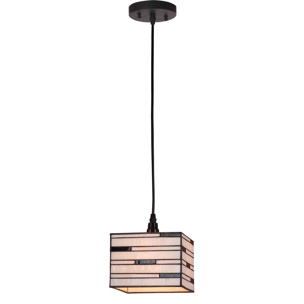 Aztec Lighting 1-light Tiffany-style Box Shade Mini Pendant