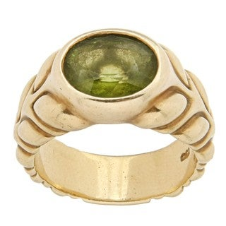 Elizabeth Rand 18k Yellow Gold Peridot Estate Ring